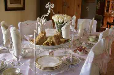 Tea Table with Harvest Chicken Tea Sandwiches