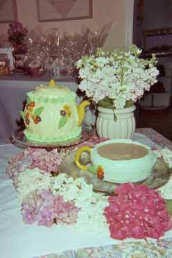 Unique Teapot and Teacup Cake made by a Hostess for her Tea Party