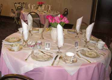 A Table Awaits the Bridal Shower Guests
