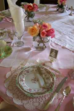 Place setting at a table for 8